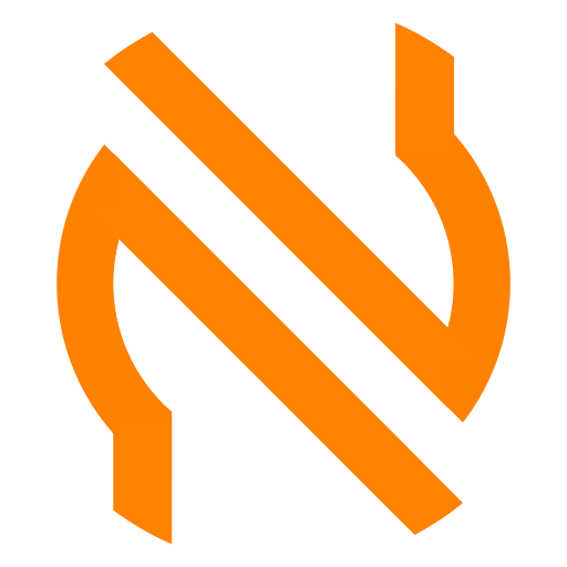 N white in a orange circle